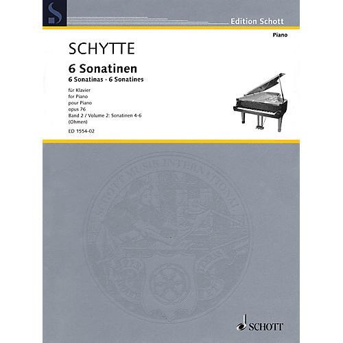 Schott Six Sonatinas, Op. 76, Vol. 2 (Nos. 4-6) Schott Softcover Composed by Schytte Edited by Wilhelm Ohmen-thumbnail