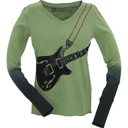 Dragonfly Clothing Company Six String Long Sleeved Women's T-Shirt-thumbnail