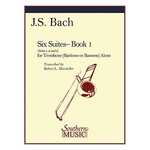 Southern Six Suites, Book 1 (Suites 1-3) Southern Music Book Composed by J.S. Bach Arranged by Robert Marsteller-thumbnail