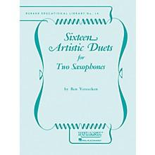 Rubank Publications Sixteen Artistic Duets Ensemble Collection Series  by Benjamin Vereecken