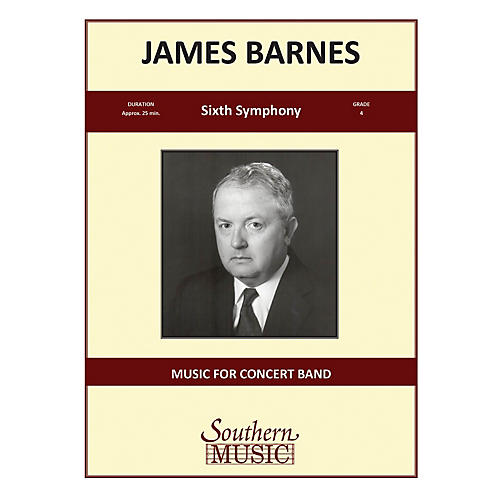 Southern Sixth Symphony, Op. 130 (European Parts) Concert Band Level 4 Composed by James Barnes-thumbnail