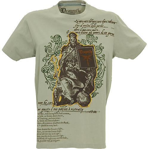 Dragonfly Clothing Company Skeleton Rocker Poem Men's T-Shirt-thumbnail