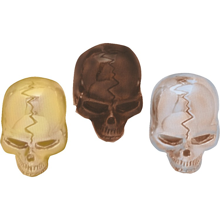 Q Parts Skull Knobs Chrome Single