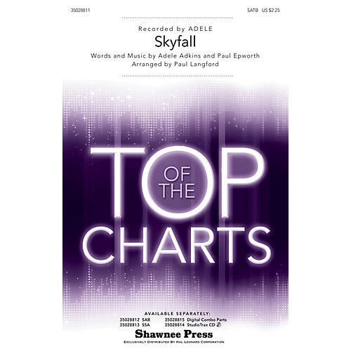 Shawnee Press Skyfall SATB by Adele arranged by Paul Langford