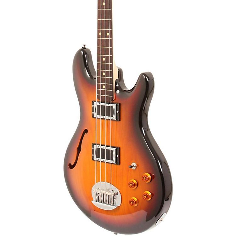 LaklandSkyline Hollowbody Bass3-Tone Sunburst