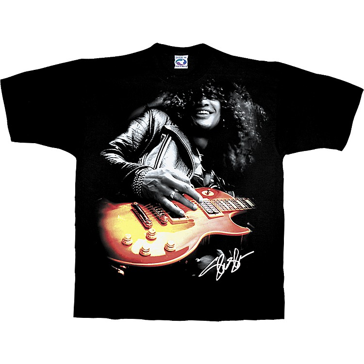 Gear One Slash Playing Guitar T-Shirt Black Large