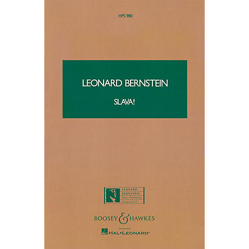 Boosey and Hawkes Slava! (Study Score) Boosey & Hawkes Scores/Books Series Composed by Leonard Bernstein-thumbnail