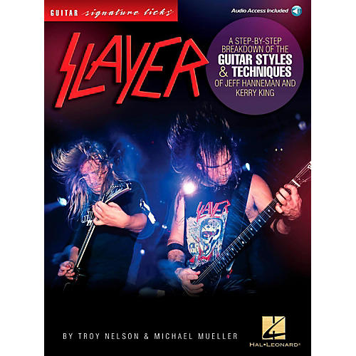 Hal Leonard Slayer Guitar Signature Licks - Styles & Techniques of Jeff Hanneman and Kerry King Book/Audio Online-thumbnail