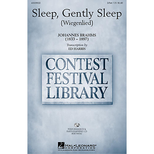 Hal Leonard Sleep, Gently Sleep (Wiegenlied) 2-Part arranged by Ed Harris-thumbnail