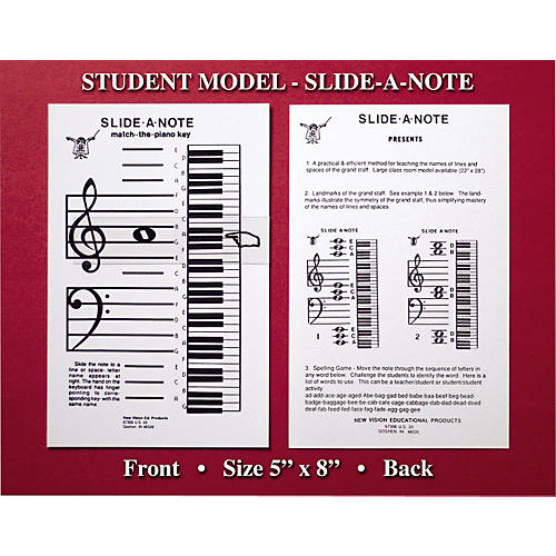 General Music Curriculum Slide-A-Note Classroom Piano Chart