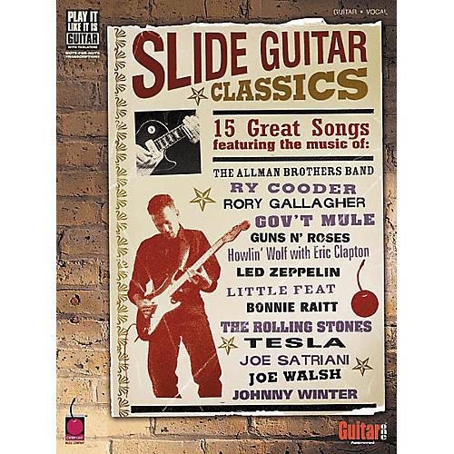 Cherry Lane Slide Guitar Classics Tab Songbook