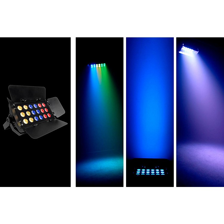 ChauvetSlimBANK Tri-18 Tri-color LED Wash W/ Barn Doors