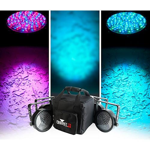 CHAUVET DJ SlimPACK 56 LT - 4 SlimPAR 56 Wash Lights and 3 DMX Cables with CHS-SP4 VIP Gear Bag-thumbnail