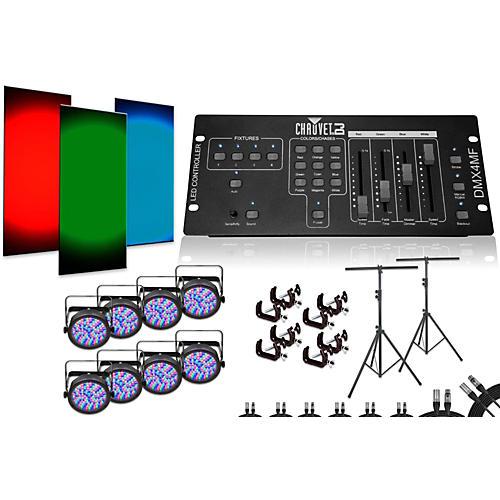 Chauvet SlimPar 56 DMX4MF 8 Light System