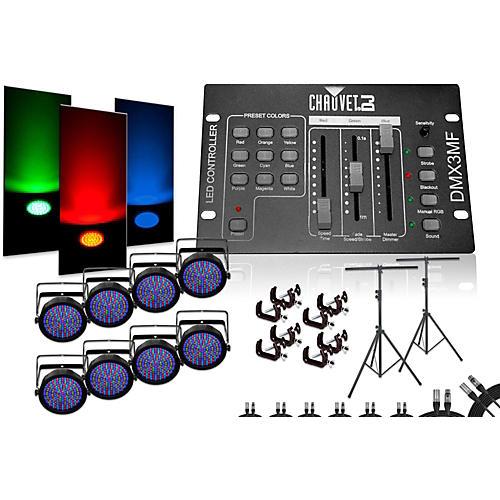 CHAUVET DJ SlimPar 64 DMX3MF 8 Light System-thumbnail