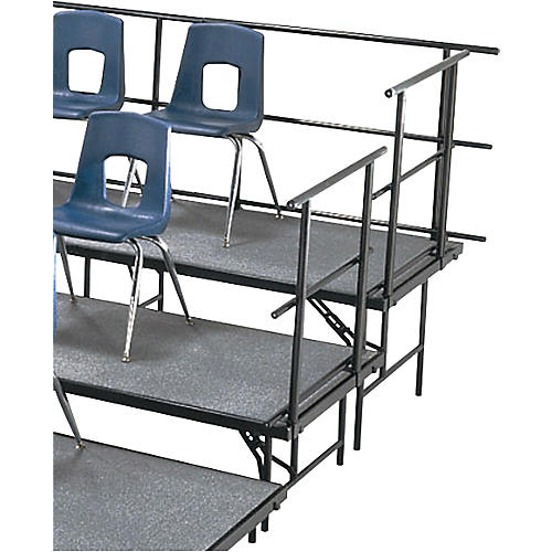 Midwest Folding Products Sloping Guard Rails for Standing Choral Risers 4 Level For 2 Level, 36 in. High