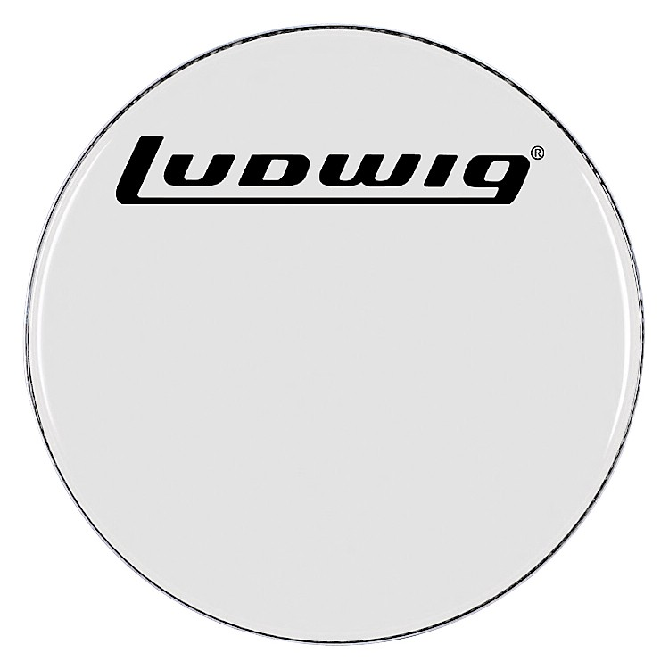 Ludwig Smooth White Bass Drum Head  28 Inch