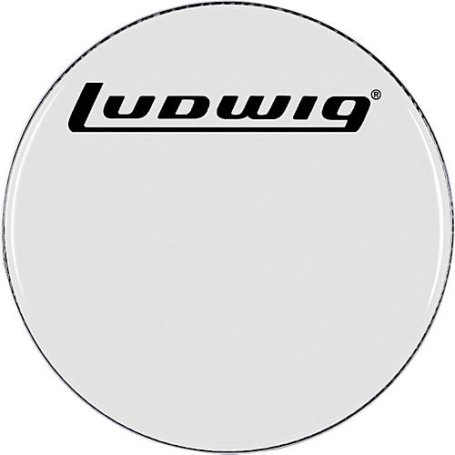 ludwig smooth white bass drum head musician 39 s friend. Black Bedroom Furniture Sets. Home Design Ideas
