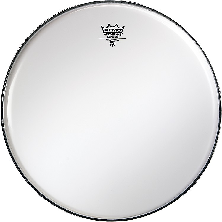 Remo Smooth White Emperor Drumheads 13 Inch White