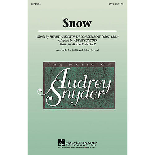 Hal Leonard Snow SATB composed by Audrey Snyder-thumbnail