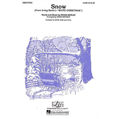 Hal Leonard Snow (from White Christmas) SATB arranged by Mark Brymer-thumbnail
