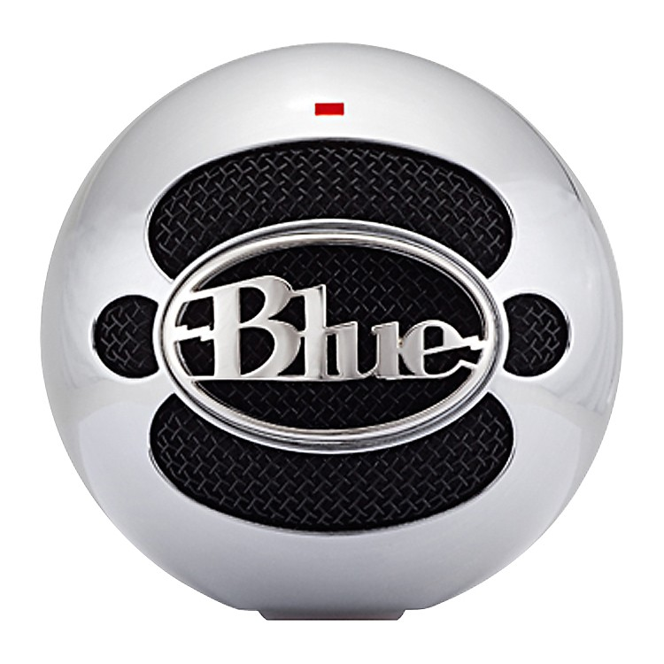 Blue Snowball USB Microphone Brushed Aluminum