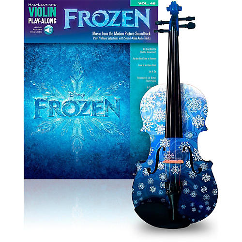 Rozanna's Violins Snowflake 3/4 Violin Outfit with Disney Frozen Songbook-thumbnail