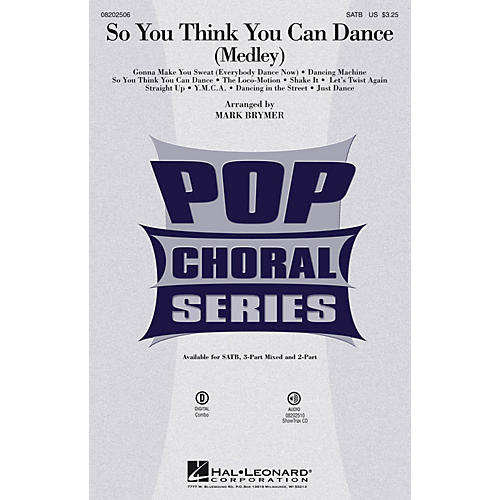 Hal Leonard So You Think You Can Dance (Medley) 3-Part Mixed by Various Arranged by Mark Brymer-thumbnail