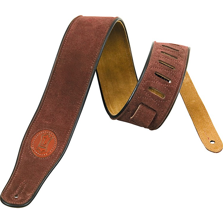 Levy's Soft Suede Guitar Strap Brown