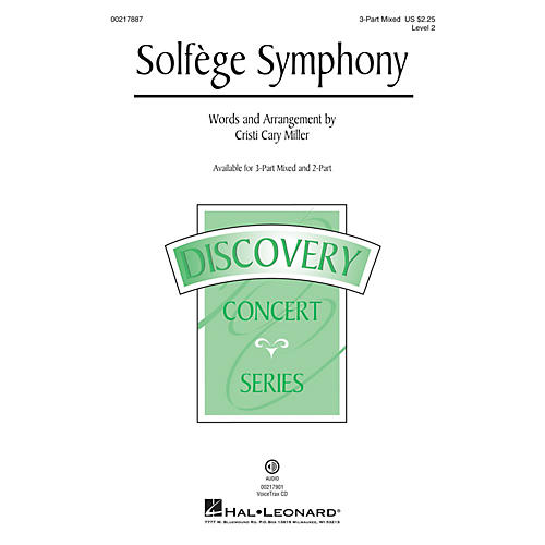 Hal Leonard Solfege Symphony (Discovery Level 2) 3-Part Mixed arranged by Cristi Cary Miller