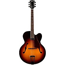 Solid-Formed 17 Venetian Cutaway Archtop Hollowbody Electric Guitar Bourbon Burst