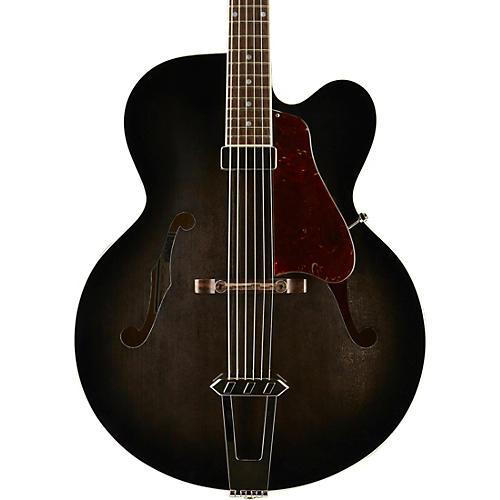 Gibson Custom Solid-Formed 17 Venetian Cutaway Archtop Hollowbody Electric Guitar Regular Trans Black Burst-thumbnail
