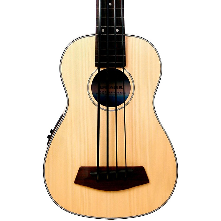 Kala Solid Top Fretless Acoustic Electric U-Bass Natural