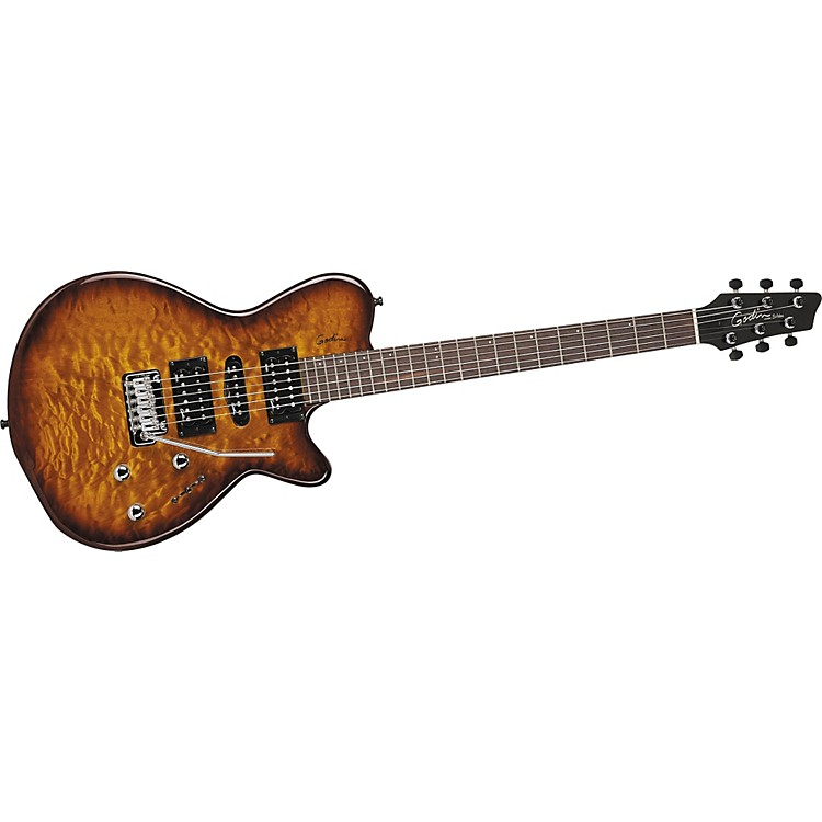godin solidac quilted maple top electric guitar musician 39 s friend. Black Bedroom Furniture Sets. Home Design Ideas