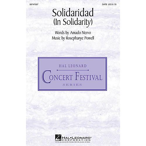 Hal Leonard Solidaridad (In Solidarity) SATB composed by Rosephanye Powell