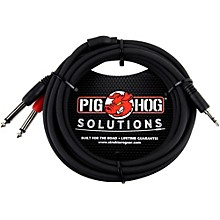 "Pig Hog Soliutions Stereo Breakout Cable 3.5mm to Dual 1/4"" (3 ft.)"