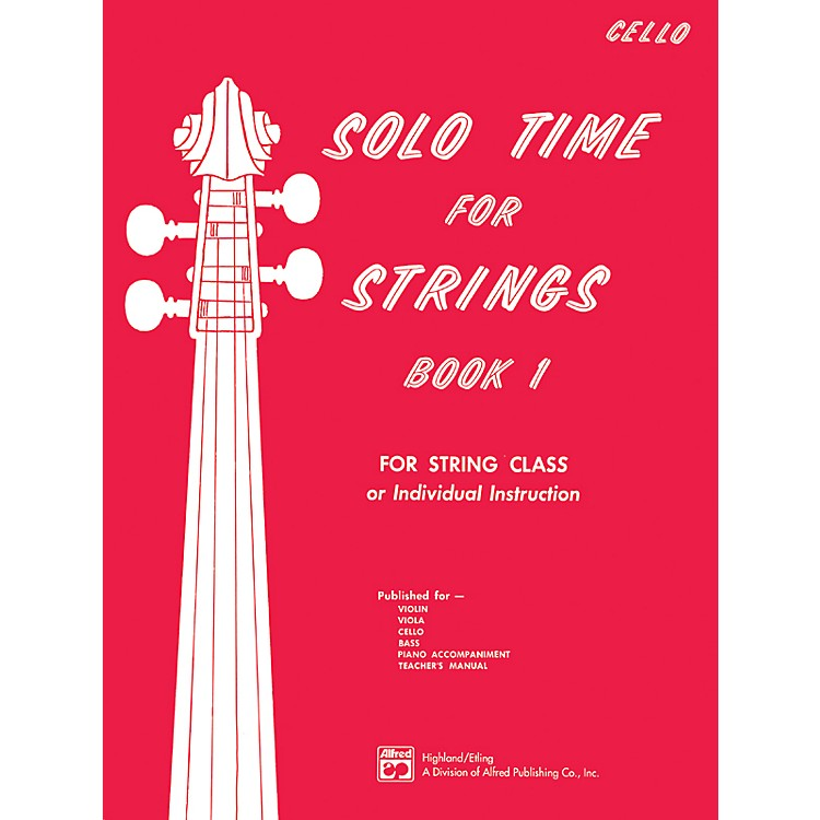 Alfred Solo Time for Strings Book 1 Cello