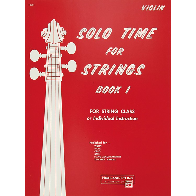 Alfred Solo Time for Strings Book 1 Violin