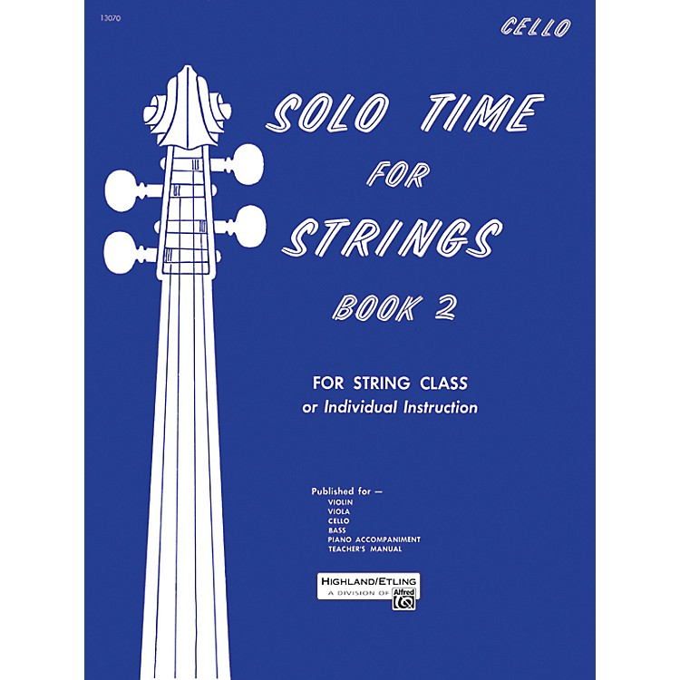 Alfred Solo Time for Strings Book 2 Cello