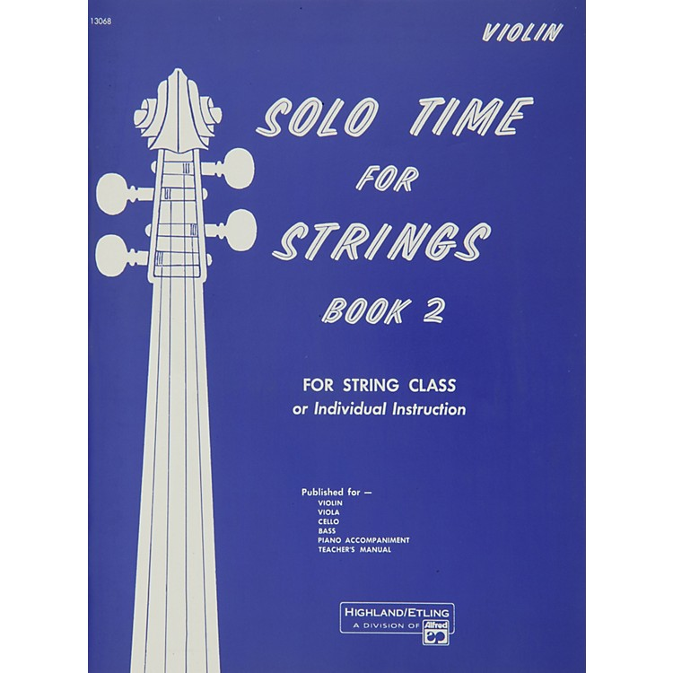 AlfredSolo Time for Strings Book 2 Violin