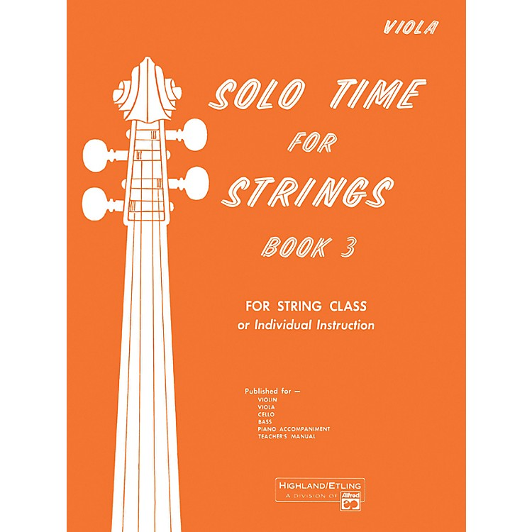 AlfredSolo Time for Strings Book 3 Viola