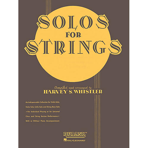 Rubank Publications Solos For Strings - Cello Solo (First Position) Rubank Solo Collection Series by Harvey S. Whistler-thumbnail