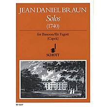 Schott Solos for Bassoon (1740) Schott Series