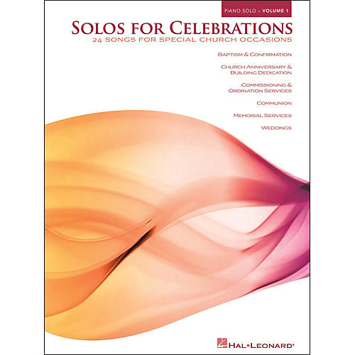 Hal Leonard Solos for Celebrations - Volume 1 arranged for piano solo-thumbnail