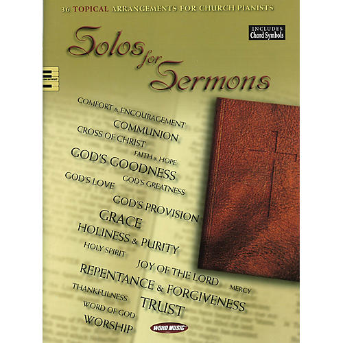 Word Music Solos for Sermons (36 Topical Arrangements for Church Pianists) Songbook Series Softcover-thumbnail