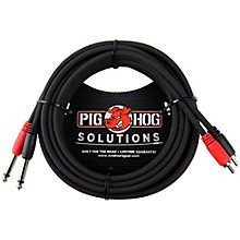 "Pig Hog Solutions Dual Cable RCA to 1/4"" (3 ft.)"
