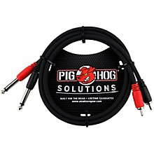 "Pig Hog Solutions Dual Cable RCA to 1/4"" (3 ft.) 3 ft."