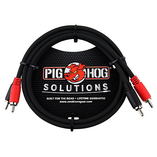 Pig Hog Solutions Dual Cable RCA to RCA (3 ft.)-thumbnail
