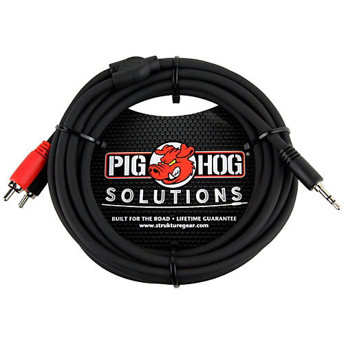 Pig Hog Solutions Stereo Breakout Cable 3.5mm to Dual RCA (3 ft.)