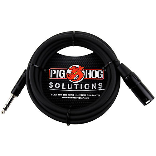 Pig Hog Solutions TRS(M) to XLR(M) Balanced Adapter Cable  15 ft.